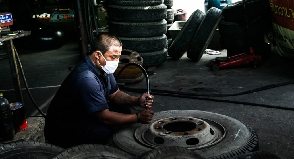 Flat tyre Services